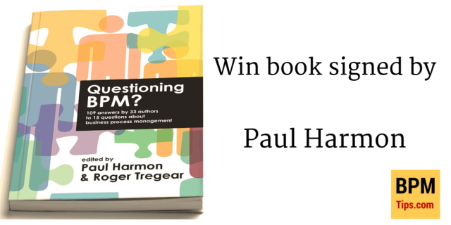 Win book Questioning BPM? signed by Paul Harmon