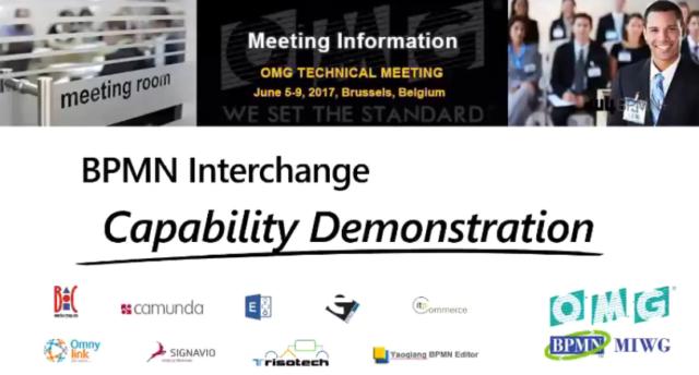 BPMN Interchange Capability Demonstration 2017