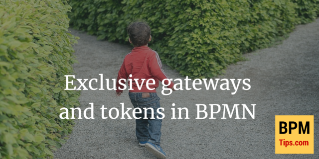 Exclusive gateways (XOR) and tokens