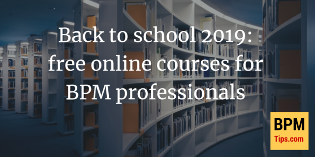 Back to school 2019: free online courses for BPM professionals