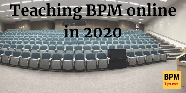 How to teach BPM online in 2020